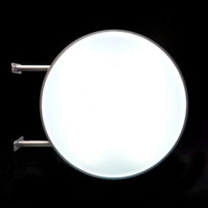 Circle LED light box